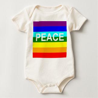 enredadera infantil del onsie de la paz enteritos