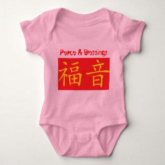 Enredadera infantil del onsie de la paz y de las camisas