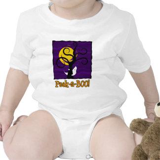 Enredadera infantil del peekaboo de Halloween, Ons Trajes De Bebé
