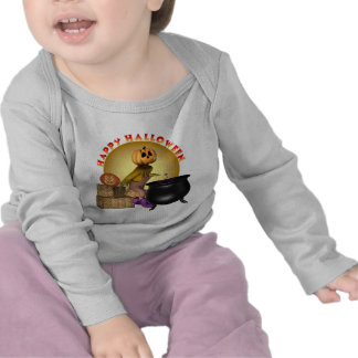 Enredadera larga infantil de la manga del feliz Ha Camiseta