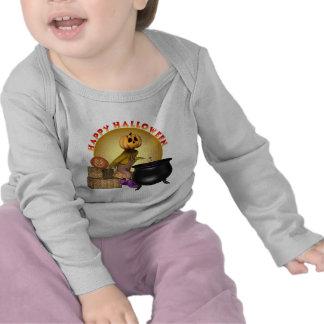 Enredadera larga infantil de la manga del feliz camisetas