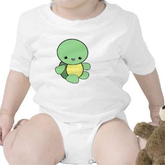 Enredadera linda de la tortuga del bebé del kawaii traje de bebé