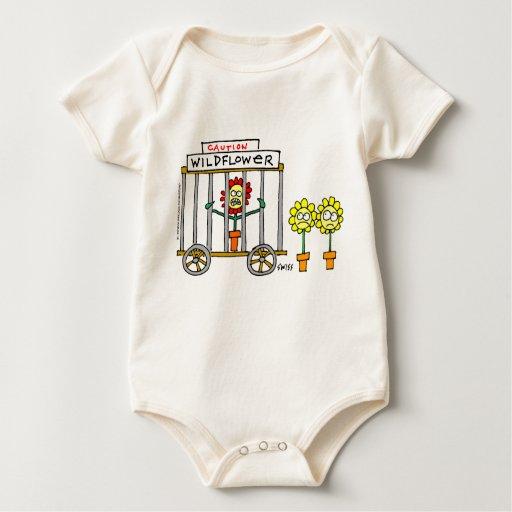 Enredadera linda del bebé del Wildflower Trajes De Bebé
