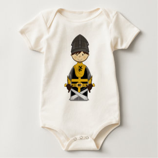 Enredadera linda del caballero negro traje de bebé