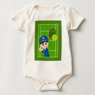 Enredadera linda del muchacho del tenis body para bebé