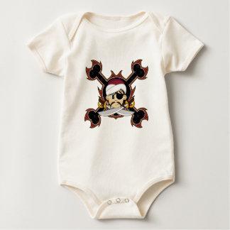 Enredadera linda del pirata del turbante body de bebé