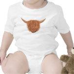 Enredadera melenuda del niño de la vaca de la mont trajes de bebé