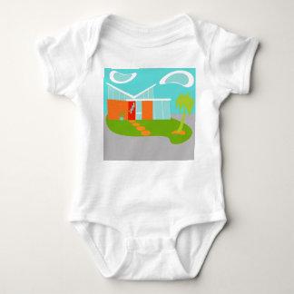 Enredadera moderna del niño de la casa del dibujo body para bebé