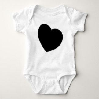 Enredadera negra del niño del corazón camiseta