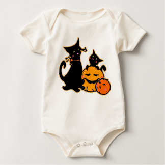 Enredadera orgánica de los gatos negros de trajes de bebé