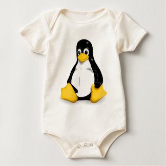 Enredadera orgánica del bebé de Linux Tux Mamelucos