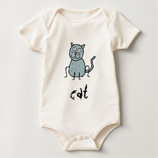 Enredadera orgánica infantil adaptable del gato traje de bebé