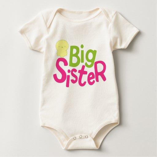 Enredadera orgánica infantil de la hermana grande mamelucos de bebé