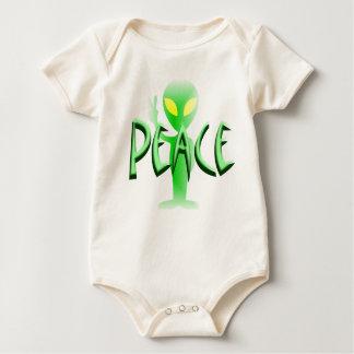 Enredadera orgánica infantil de la paz mameluco
