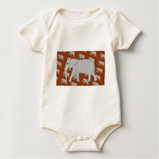 Enredadera orgánica infantil del elefante elegante mamelucos de bebé