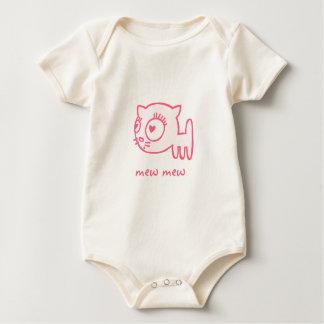 enredadera orgánica infantil del Gato-uno-portero Body Para Bebé