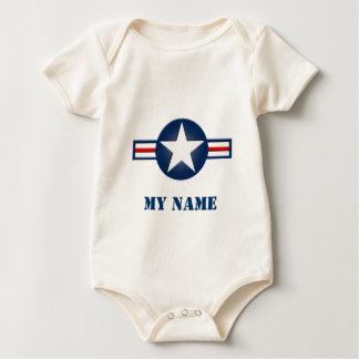 Enredadera orgánica infantil personalizada de la mamelucos de bebé