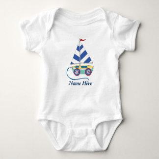 Enredadera personalizada del bebé del velero del body para bebé