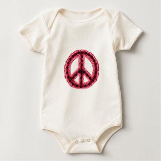 Enredadera roja de la paz body para bebé