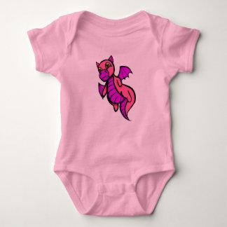 Enredadera rosada del dragón del bebé playeras