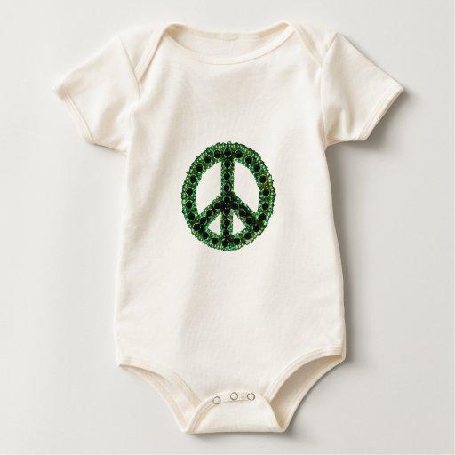 Enredadera verde de la paz body para bebé