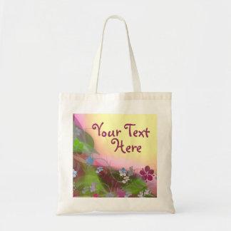 Enredaderas coloridas de la flor de la curación bolsa tela barata