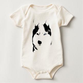Enredaderas fornidas del bebé del perro de trineo mamelucos de bebé