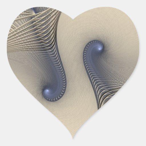 Enredado para arriba en azul pegatina en forma de corazón