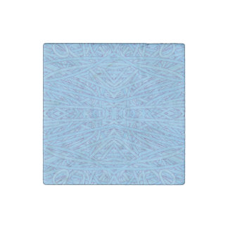 Enredo azul imán de piedra
