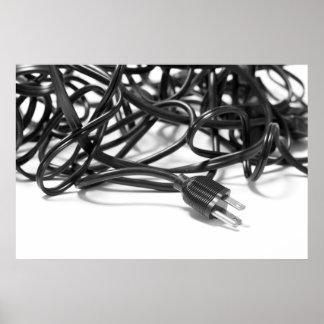 Enredo de los cables de transmisión póster