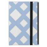 Enrejado azul claro en blanco iPad mini carcasas