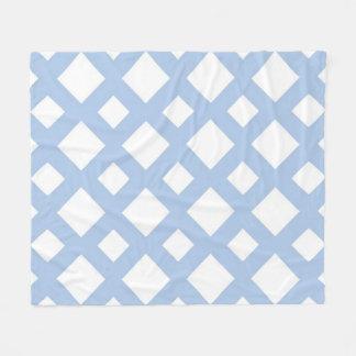 Enrejado azul claro en blanco