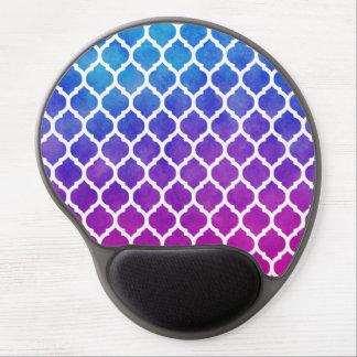 Enrejado azul púrpura rosado del marroquí de Ombre Alfombrilla De Raton Con Gel