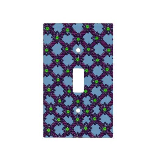 enrejado de la joya (azul) cubiertas para interruptor
