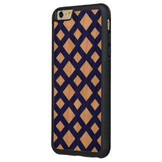 Enrejado de la marina de guerra en blanco funda de cerezo bumper carved® para iPhone 6 plus