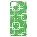 Enrejado de la verde lima iPhone 5 Case-Mate carcasas