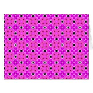 Enrejado del círculo del edredón moderno violeta tarjeta de felicitación grande