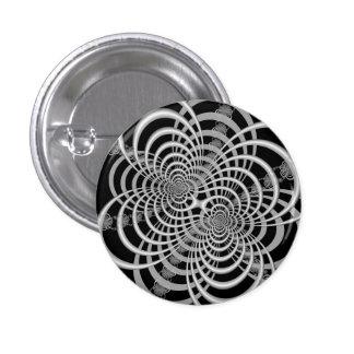 Enrejado en botón blanco y negro pins