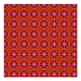Enrejado marroquí abstracto que brilla perfect poster