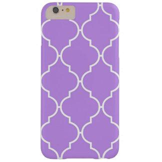 Enrejado marroquí, celosía - blanco púrpura funda de iPhone 6 plus barely there
