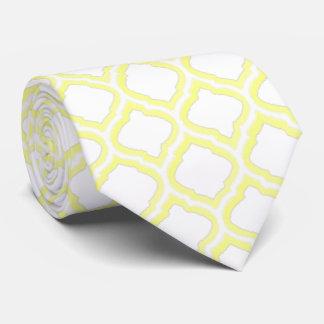 enrejado marroquí del Dúo-tono (amarillo) Corbatas