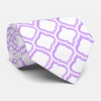 enrejado marroquí del Dúo-tono (lila) Corbatas Personalizadas