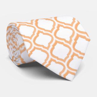 enrejado marroquí del Dúo-tono (naranja) Corbata Personalizada