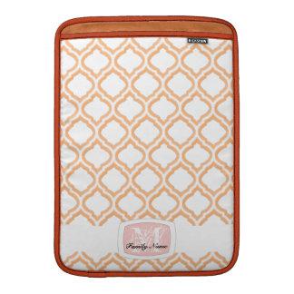enrejado marroquí del Dúo-tono (naranja) (monogram Funda Macbook Air