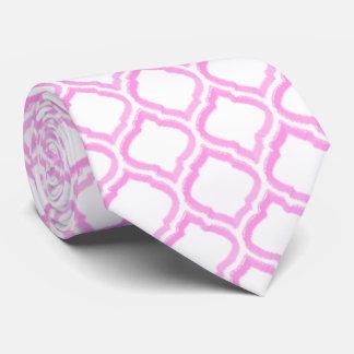enrejado marroquí del Dúo-tono (rosa) Corbatas
