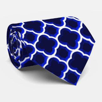 Enrejado marroquí embellecido (azul marino) corbata