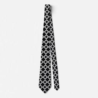 Enrejado marroquí embellecido (plata) corbata personalizada