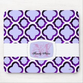 Enrejado marroquí embellecido (púrpura) alfombrilla de raton