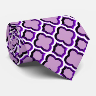 Enrejado marroquí embellecido (púrpura) corbata personalizada
