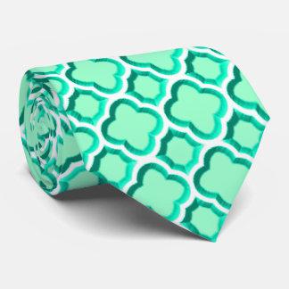 Enrejado marroquí embellecido (turquesa) corbata personalizada